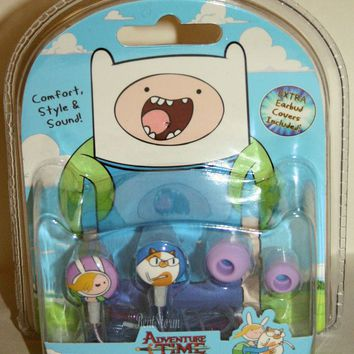 Licensed cool Adventure Time Finn Jake FIONNA & CAKE Earbuds Headphones Gift Set IPhone NEW