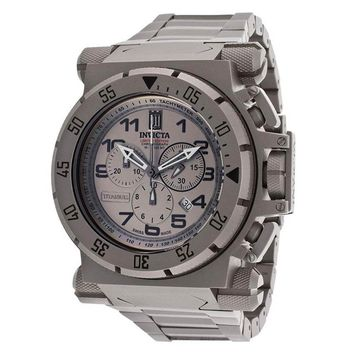 Invicta 14478 Men's Jason Taylor Chronograph Gunmetal Dial Titanium Bracelet Watch