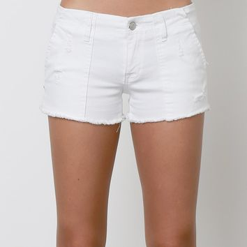 Jules denim Shorts - White
