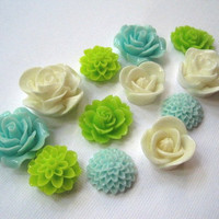Fridge Magnet Set 12 pc Flowers with Neodymium Magnets..... Perfect for Housewarming Gifts