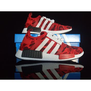 ''Adidas'' Women Running Sport Casual Shoes Camo NMD Sneakers