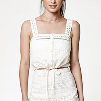 Kendall & Kylie Eyelet Button Front Tank Top at PacSun.com