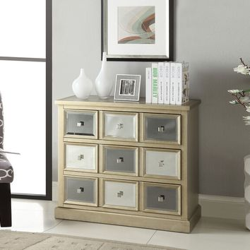 Seaira collection silver and gray finish wood console entry table
