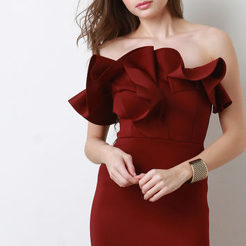 Ruffled Cocktail Dress | UrbanOG