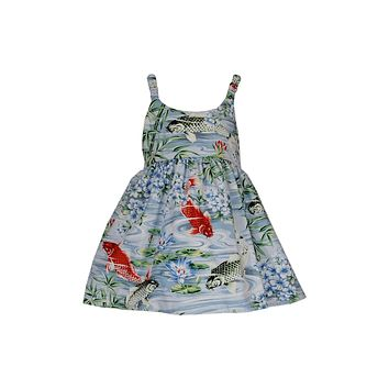 Koi Blue Girl's Hawaiian Sundress