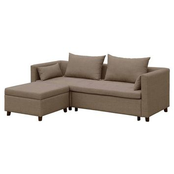 Cromwell Convertible Sofa with Ottoman - Taupe - Threshold™