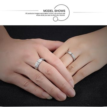 V.YA Classical Simple Design Lover's Rings Personalized Dull Polish Stainless Steel Women Men Wedding Jewelry Gift Drop Shipping