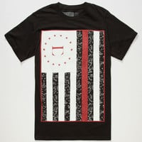 Civil Rebel Flag Mens T-Shirt Black  In Sizes