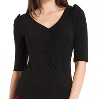 Von-Teese Top In Black | Blame Betty