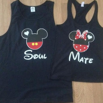 Free Shipping for US Soul Mate Mickey and Minnie Couples T Shirts/Tank Top.