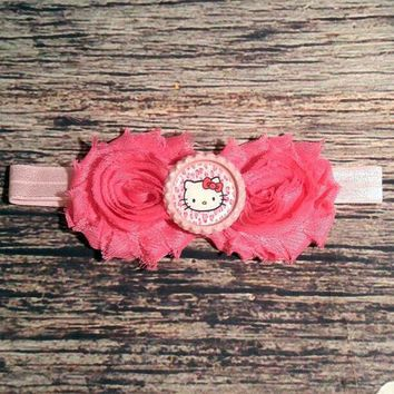 Pink Hello Kitty Headband - Baby Girl Headband -