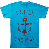 Mayday Parade Men's  Anchored T-shirt Blue