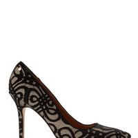 RACHEL ROY Black Embroidered Rava Pump