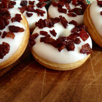 Real Vermont Maple & Vermont Maple Bacon mini donuts