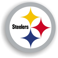 Pittsburgh Steelers NFL 12 Inch Car Magnet