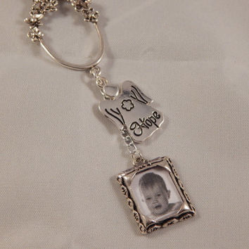Memorial / Hope Keychain - Photo Accessory, new parent / babyshower  or Memorial Gift - loss of child, spouse, parent - unique accessory