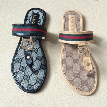 GUCCI WOMEN SANDALS FLAT FLIP FLOPS