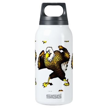 Cartoon Fighting Eagle 10 Oz Insulated SIGG Thermos Water Bottle