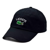 LACOSTE Embroidered 100% Cotton Adjustable Cap
