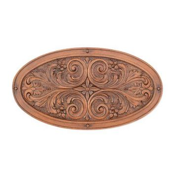 Craft-Tex Ladybug 6979WL Oval Floral Leaf Wall Plaque