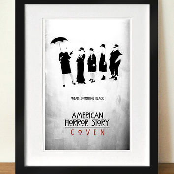 "American Horror Story: Coven - ""Wear Something Black"" Digital Art 11x17 Poster Print"