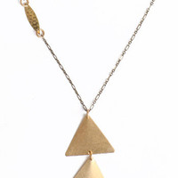 Double Triangle Necklace by St. Eve - $28.00 : ThreadSence.com, Your Spot For Indie Clothing  Indie Urban Culture