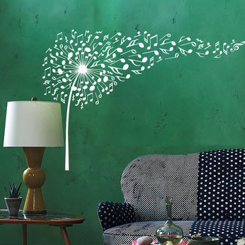 Vinyl Wall Decal Dandelion Musical Flower Interior House Stickers Unique Gift (ig3939)