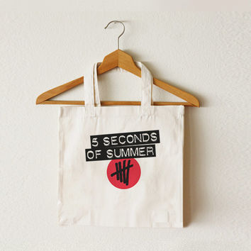 5SOS - 5 Seconds of Summer - Women bag - Tote bag - Canvas bag - Shopping bag - Ipad bag - Macbook bag -CCT-TTB-038