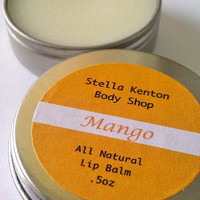 Mango Lip Balm by StellaKenton on Etsy