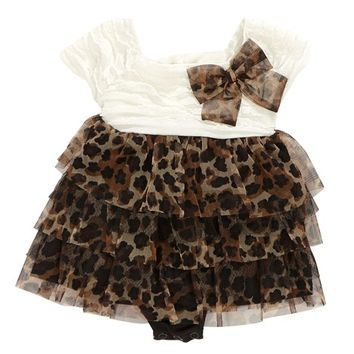 Tiered Cheetah Romper 3 9m 355432128 From Burlington Coat