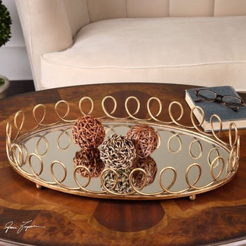 Uttermost Eclipse Mirrored Tray
