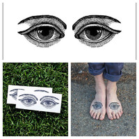 Eyes  temporary tattoo Set of 2 by Tattify on Etsy
