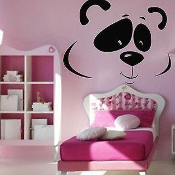 Wall Stickers Vinyl Decal Panda Funny Cheerful Shy Animal For Kids Unique Gift ig108
