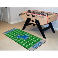 Fan Mats 7351 NFL Detroit Lions Football Field Runner: 2 ft. 6 in. x 6 ft. Mat - (In Runner)