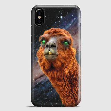LlamaS Green Nebula Encounter iPhone X Case