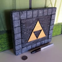 Zelda Triforce Hand carved and painted