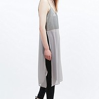 Light Before Dark Longline Cami in Grey - Urban Outfitters