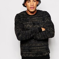 ASOS Sweatshirt With Aztec Print