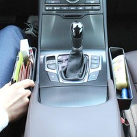 Console Side Pocket (2 PCS), Car Organizer,Catcher, Fills the Gap Between the Seat