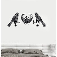 Vinyl Wall Decal Ancient Egypt Scarab Falcon Mascot Talisman Stickers Unique Gift (035ig)