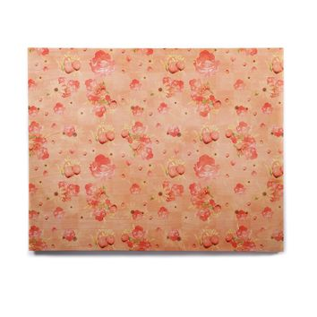 """Elena Ivan - Papadopoulou """"Summer's Slowly Fading"""" Pink Coral Pattern Floral Digital Photography Birchwood Wall Art"""