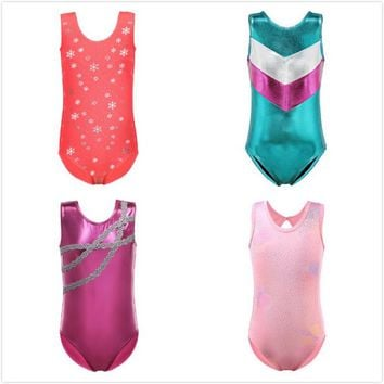 Summer Dress Ballet for Girls Kids Dancewear Sleeveless Ballet Costumes Gymnastics Leotards Toddler Girls Ballet Dancing Suit