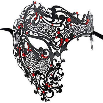 Men's Luxury Party Mask Phantom Of The Opera Half Face Mask For Party