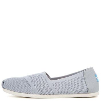 ESBI7E Tom Classic Drizzle Grey Custom Knit Women's Flats