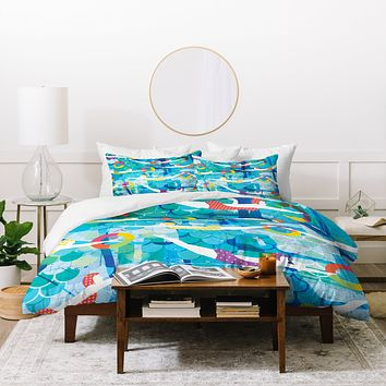 Sam Osborne Swimming Gala Duvet Cover