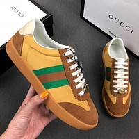 GUCCI Nylon and suede Web sneaker 5 colors