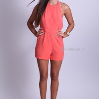HIGH NECK PLAYSUIT , DRESSES, TOPS, BOTTOMS, JACKETS & JUMPERS, ACCESSORIES, 50% OFF SALE, PRE ORDER, NEW ARRIVALS, PLAYSUIT, COLOUR, GIFT VOUCHER,,Orange,BACKLESS,JUMPSUIT,SLEEVELESS Australia, Queensland, Brisbane