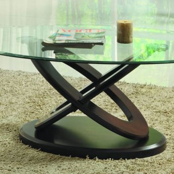 He-3401W-30 Firth Ii Collection Cocktail Table, Wood Base