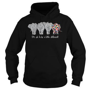 Autism elephant It's ok to be a little different shirt Hoodie