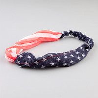Full Tilt American Flag Chiffon Headband Blue Combo One Size For Women 21905424901